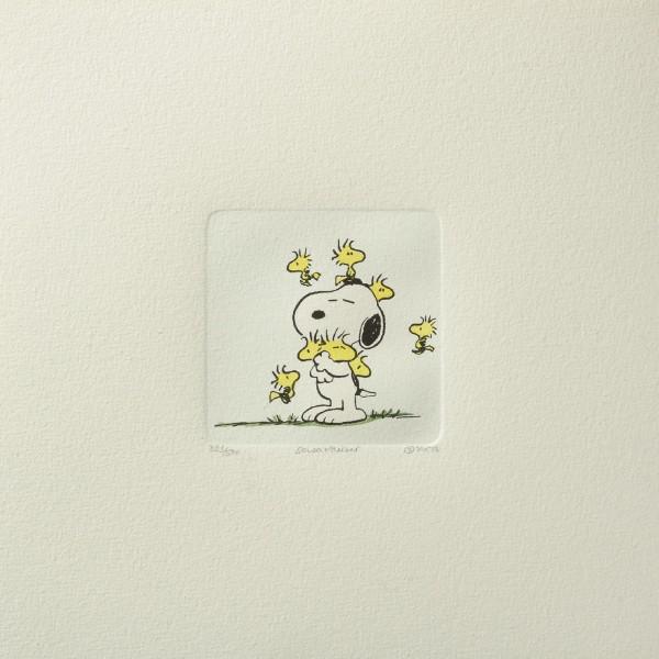 Charles M. Schulz: Peanuts - Snoopy und Woodstock, 01, medium. Original-Radierung