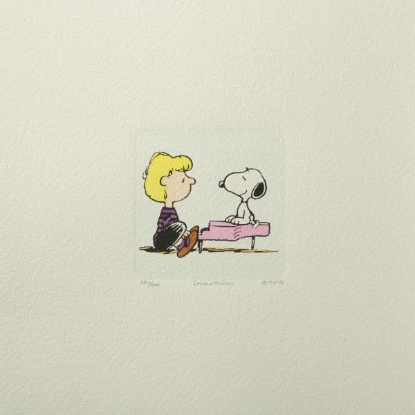 Charles M. Schulz: Peanuts - Schroeder und Snoopy, 01, medium. Original-Radierung
