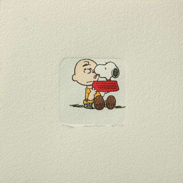 Charles M. Schulz: Peanuts - Charlie Brown und Snoopy, 04, klein. Original-Radierung