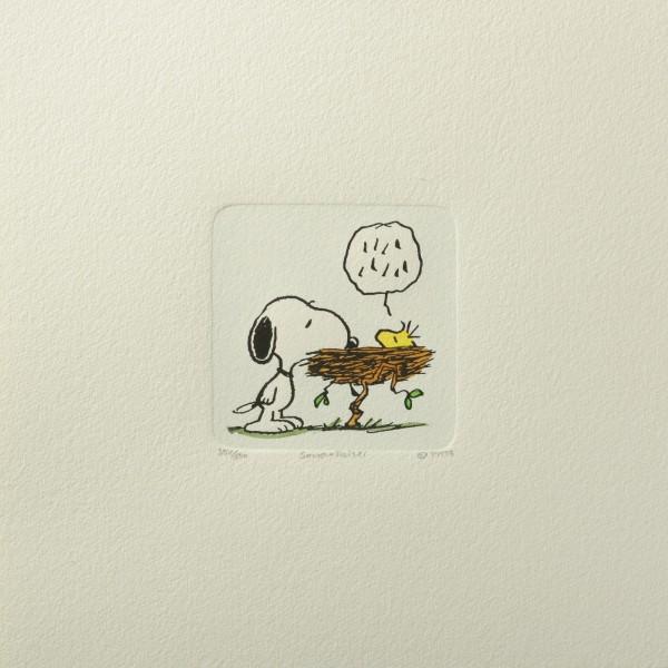 Charles M. Schulz: Peanuts - Snoopy und Woodstock, 02, medium. Original-Radierung